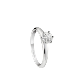 Salvini solitaire ring white gold and diamonds ct 0,35 Petal cut Ref.20082843