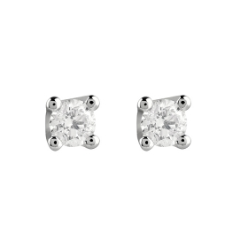 Salvini earrings white gold and diamonds ct 0,26 Virginia Ref.20067687