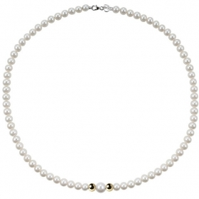 Bliss Necklace pearl river mm 4,5/5 inserts yellow gold Paradise Ref.20066751
