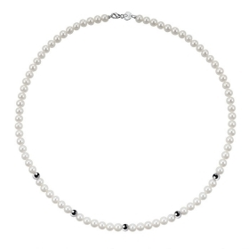 Bliss necklace pearl river mm 5/5,5 inserts white gold Ref.20066858