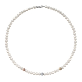 Bliss necklace pearl river mm 6/6,5 inserts of rose gold/white Paradise Ref.20067083