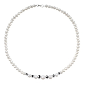 Bliss Necklace paradise pearl river mm 5.5/6 inserts white gold Ref.20066996
