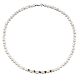 Bliss Necklace paradise pearl river mm 6/6,5 inserts gold Ref.20067192