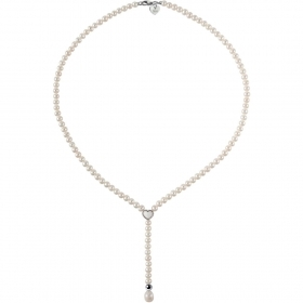 Bliss Necklace Pearls Freshwater, White Gold, White heart symbol Ref.20068741