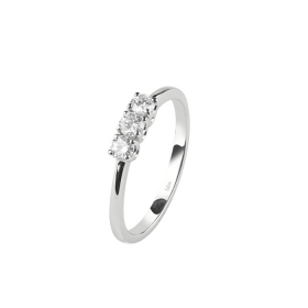 Bliss trilogy Ring Feeling white gold and diamond ct 0,09 Ref.20073217