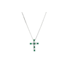 Bliss Necklace white gold cros