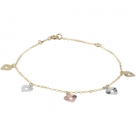 Bliss bracelet mon amour 18kt gold hearts 20073605