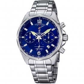 FESTINA Man Watch Collection. Timeless Chronograph Quadr. Blue 44mm F6835/3
