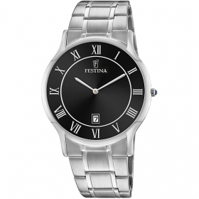 FESTINA MAN WATCH ONLY TIME BLACK WITH ROMAN NUMERALS F6867/3