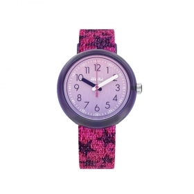 FLIK FLAK WATCH GIRL IN STRAP WITH STAR FPNP054