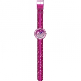 FLIK FLAK WATCH GIRL IN ALL PINK WITH PINK SPARKLE FPNP053
