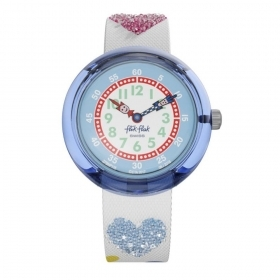 FLIK FLAK WATCH GIRL IN STRAP WITH HEARTS FBNP116