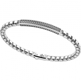 ZANCAN Bracelet in sterling silver with machining cross-EXB822