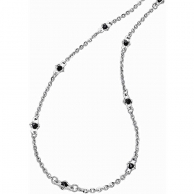 ZANCAN Necklace in silver with spinels blacks collection. Union EXC380