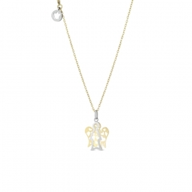 Roberto Giannotti NECKLACE with YELLOW GOLD PENDANT, WHITE ANGEL WINGS, YELLOW NKT256