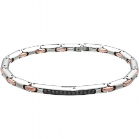 ZANCAN Bracelet in Steel With Black Pvd coating And Rose Gold EHB073