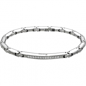 ZANCAN Bracelet Steel 316L Medical with sapphires white EHB075