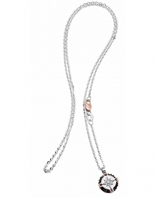 ZANCAN Necklace with gold ri corn osa dei venti with diamonds EC411RB-B