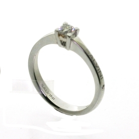 SALVINI Ring white gold with d