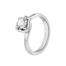 SALVINI solitaire Ring in white gold with brilliant Embrace ct 0,27 20062772