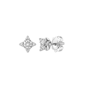 SALVINI Earrings white gold and diamonds ct 0,23 Light
