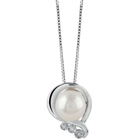 Bliss Necklace white gold with