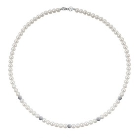 Bliss Necklace pearl river mm 5.5/6 with inserts white gold 20066979