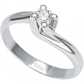 Bliss solitaire ring in white gold with brilliant collection of Thought 20067268