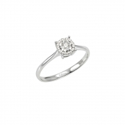Bliss solitaire ring in white gold with brilliant collection Sorprendila 20061865