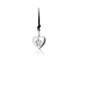 Giannotti heart pendant with angel white gold Ref. PZ651