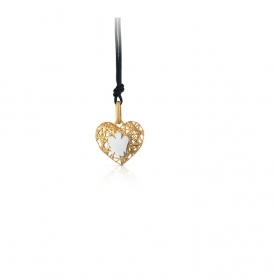 Giannotti Heart Pendant in Yellow Gold with Angel Ref. PZ652