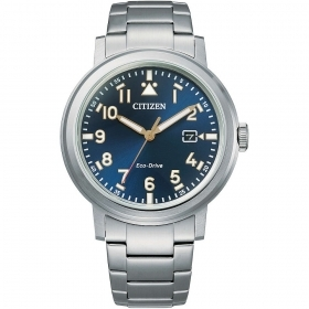 CITIZEN watch only time man steel blue dial AW1620-81L