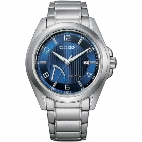 CITIZEN Watch only Time Reserver all steel blue dial AW7050-84L