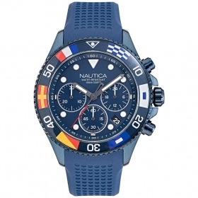 Nautica chronograph man blue with flags on the dial NAPWPF908