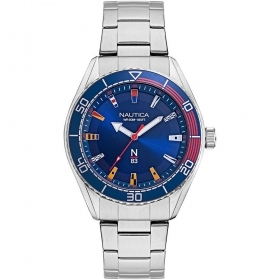 Nautica Watch Only Time Man steel blue dial NAPFWS004
