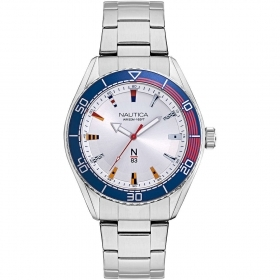 Nautica Watch Only Time Man steel silver dial NAPFWS005