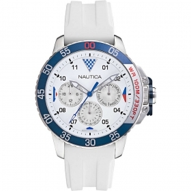 Nautica Multifunction Watch Man strap white silicone NAPBHS010