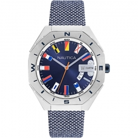 Nautica Watch Only Time Man strap blue fabric NAPLSS002