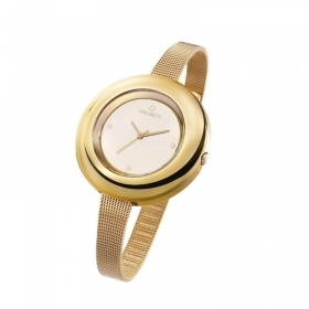 OPS Watch only time woman Polycarbonate Case Color Gold OPSPW-329-2700