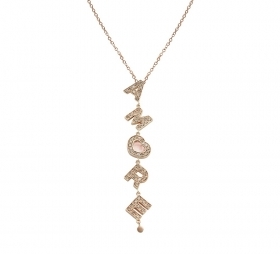 PASQUALE BRUNI NECKLACE PINK GOLD WITH THE WORD LOVE 15806R