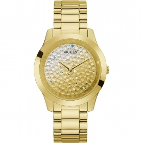 Guess Watch Solotempo stainless steel ladies shiny gold colour Ref. GW0020L2