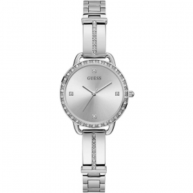 Guess Watch Solotempo stainless steel polished with crystal clear Ref. GW0022L1