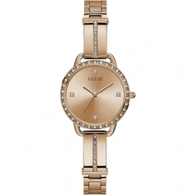Guess Watch Solotempo stainless steel ladies shiny gold colour Ref. GW0022L3