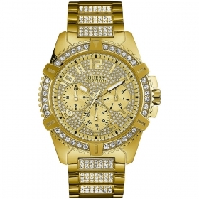 Guess Watch Solotempo stainless steel ladies shiny gold colour Ref. W0799G2