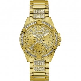 Guess woman Watch stainless steel case with crystals, gold color Ref. W1156L2
