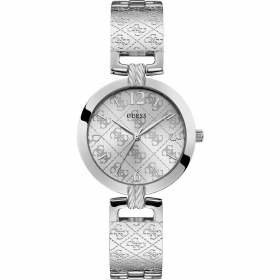 Guess Woman Watch stainless Steel Silver Dial With Reason Logo 4G Ref. W1228L1
