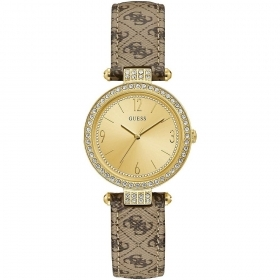 Guess Watch Woman leather strap With a Motif Logo 4G Ref. W1230L2