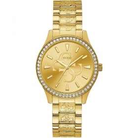 Guess Watch ladies stainless Steel Dial Gold With Logo 4G Ref. W1280L2