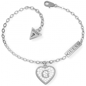 Guess Jewelry, Bracelet From Woman in Steel With Heart Pendant UBB79062-S