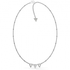 Guess Necklace Jewelry Steel Logos Triangle And Points of Light UBN79006